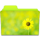 128x128px size png icon of Folder Sunflower
