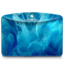 128x128px size png icon of Folder Abstract Blue Smoke