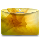 128x128px size png icon of Folder Abstract Yellow