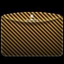 128x128px size png icon of Folder Pattern Stripes Warning