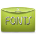 128x128px size png icon of Folder Text Fonts