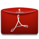 128x128px size png icon of Folder Text PDF Logo