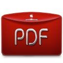 128x128px size png icon of Folder Text PDF