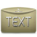 128x128px size png icon of Folder Text