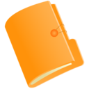 128x128px size png icon of Folder orange