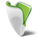 128x128px size png icon of folder green