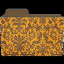 128x128px size png icon of folder damask tangeriny