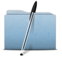 128x128px size png icon of Folder Blue Bic