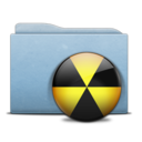 128x128px size png icon of Folder Blue Burn