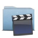 128x128px size png icon of Folder Blue Clap