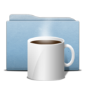 128x128px size png icon of Folder Blue Coffee