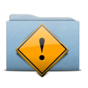 128x128px size png icon of Folder Blue Danger