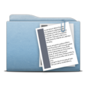 128x128px size png icon of Folder Blue Documents