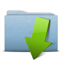 128x128px size png icon of Folder Blue Download