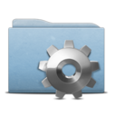 128x128px size png icon of Folder Blue Gear