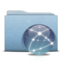 Folder Blue Globe Graphite Icon