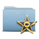 128x128px size png icon of Folder Blue Movies