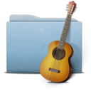 128x128px size png icon of Folder Blue Music alt