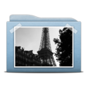 128x128px size png icon of Folder Blue Pictures