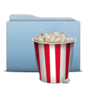 128x128px size png icon of Folder Blue Pop Corn
