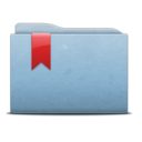 128x128px size png icon of Folder Blue Ribbon