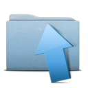 128x128px size png icon of Folder Blue Upload