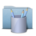 Folder Blue Work Icon