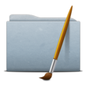 128x128px size png icon of Folder Graphite Art