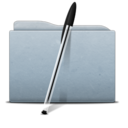 128x128px size png icon of Folder Graphite Bic