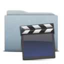 128x128px size png icon of Folder Graphite Clap