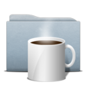 128x128px size png icon of Folder Graphite Coffee