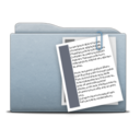 128x128px size png icon of Folder Graphite Documents
