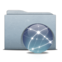 128x128px size png icon of Folder Graphite Globe