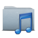 Folder Graphite Music Icon