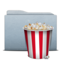 128x128px size png icon of Folder Graphite Pop Corn