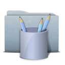 Folder Graphite Work Icon