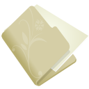 128x128px size png icon of folder flower beige