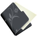 128x128px size png icon of folder flower black