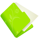 128x128px size png icon of folder flower green