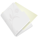 128x128px size png icon of folder flower light grey