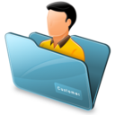 128x128px size png icon of Folder customer