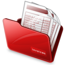 128x128px size png icon of Folder invoices