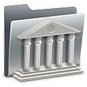 128x128px size png icon of 3D Library