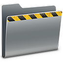 128x128px size png icon of Caution
