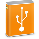 128x128px size png icon of External HD USB