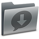 128x128px size png icon of iChat Downloads
