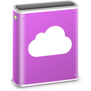 128x128px size png icon of iDisk Pink MobileMe