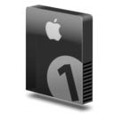 128x128px size png icon of Drive slim bay 1 apple png