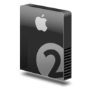 128x128px size png icon of Drive slim bay 2 apple
