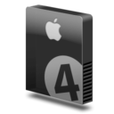 128x128px size png icon of Drive slim bay 4 apple